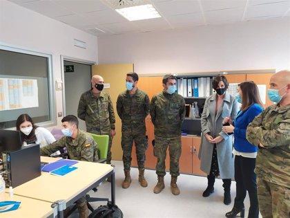 Visita al nuevo equipo de rastreadores militares que refuerzan la Unidad Covid en La Rioja