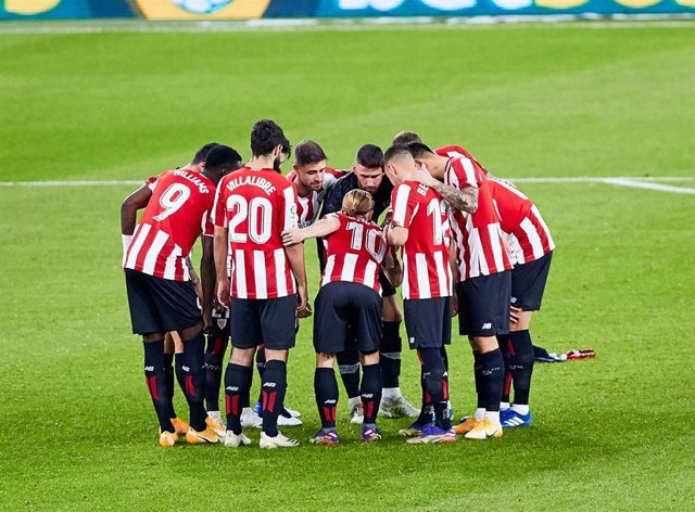 Athletic Club before the Spanish league, La Liga Santander, football match played between Athletic Club and Real Betis Balompie at San Mames stadium on November 23, 2020 in Bilbao, Spain.