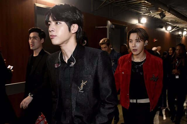 Jin And J-Hope  Of BTS Attend The 62Nd Annual GRAMMY Awards At STAPLES Center On January 26, 2020 In Los Angeles, California
