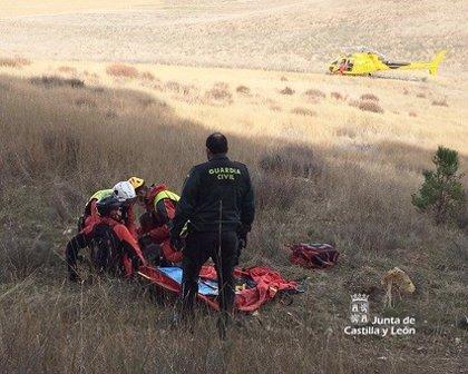 Rescatado un ciclista tras sufrir una caída en una zona de difícil acceso