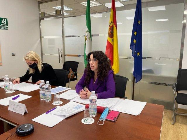 Rocío Ruiz y Laura Fernández, en el Pleno del CAPM