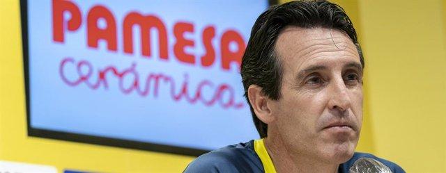 El entrenador del Villarreal CF, Unai Emery, en rueda de prensa