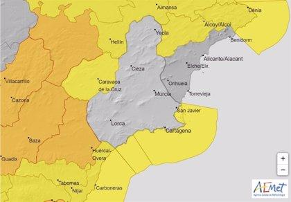 Aemet emite un aviso de nivel amarillo por vientos y fenómenos costeros en el Noroeste, Guadalentín y Campo de Cartagena