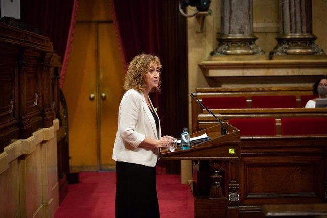 La consellera de Justícia de la Generalitat, Ester Capella, al Parlament. Barcelona, Catalunya, (Espanya), 9 de setembre del 2020.