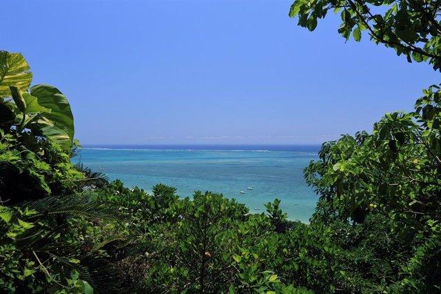 Playa en la isla de Okinawa