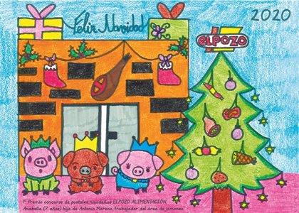 El Pozo Alimentación felicita la Navidad con la mejor postal realizada por los hijos de los empleados