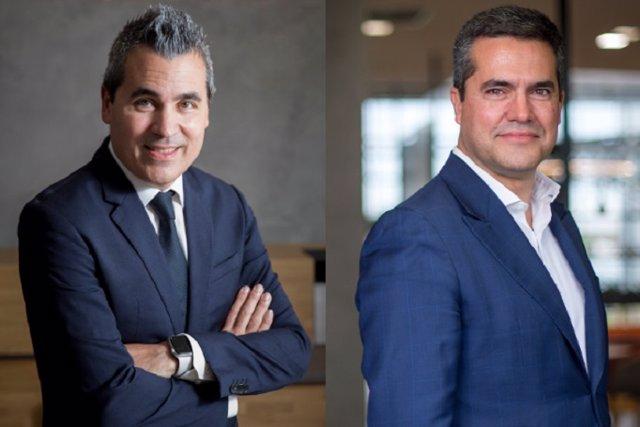 De izquierda a derecha, el director de Estrategia y Relaciones Institucionales de Seat, Josep Maria Recasens, y el director de Seat MÓ, Lucas Casasnovas.