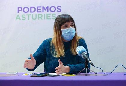 Cosculluela (Podemos) aún no ha decidido si asume el cargo de diputada en la Junta General
