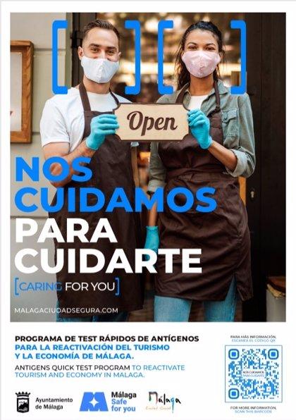El Ayuntamiento de Málaga lanza una campaña para reforzar su posición como destino seguro y reactivar la economía