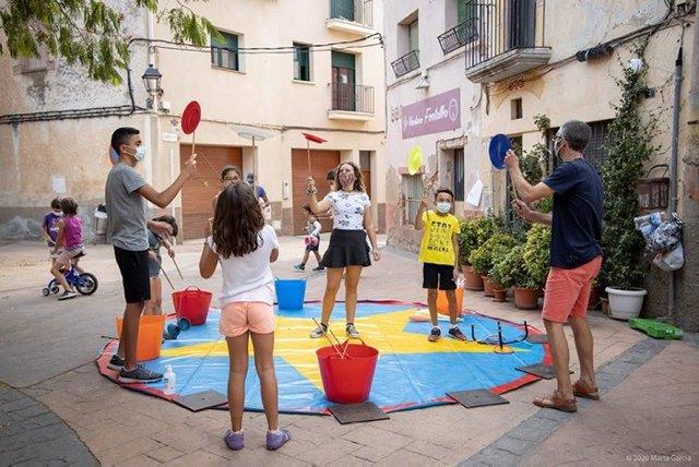Taller de circ a Ulldemolins (Tarragona).