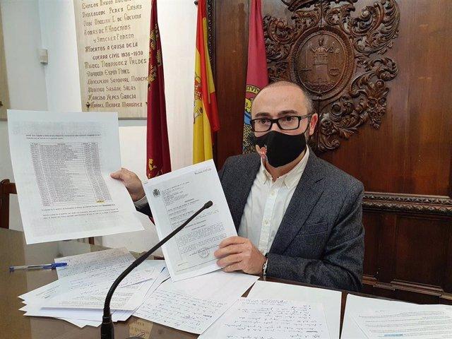 El concejal de Hacienda del Ayuntamiento de Lorca, Isidro Abellán
