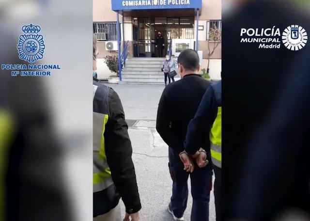 Detenido un fugitivo buscado por atropellar a un agente en Madrid cuando iba a ser identificado