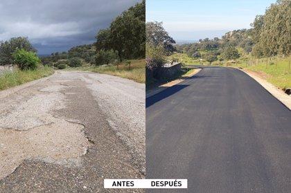 La Diputación de Cáceres rehabilita el camino municipal de Casas de Belvís denominado 'Camino Cañaveral'
