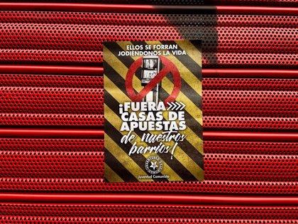 Carabanchel sale a la calle el 13 de diciembre para mostrar su rechazo a la proliferación de locales de apuestas