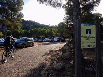 Los accesos al Parque Regional del Valle y Carrascoy se controlan desde este sábado por afluencia masiva de visitantes