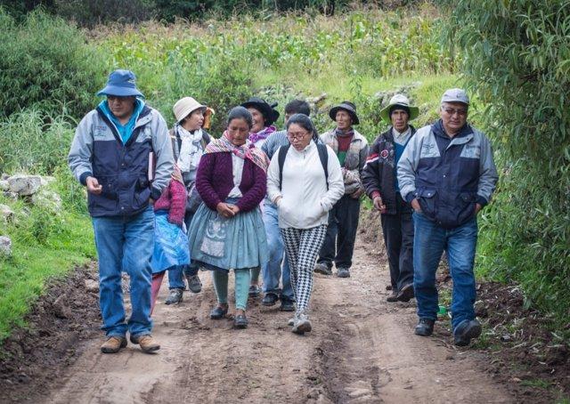 Imagen de archivo de agricultores peruanos.