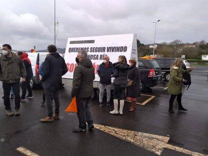 Mariscadores de Ferrol se movilizan con una caravana automovilística para reclamar una solución a su situación