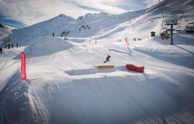 Imagen de archivo de una estación de esquí