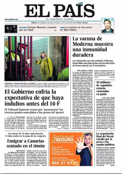 Las portadas de los periódicos del sábado 5 de diciembre