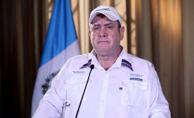 El presdidente de Guatemala, Alejandro Giammattei