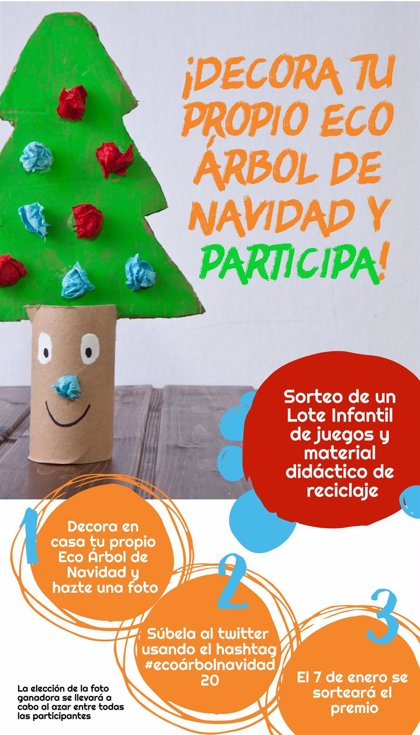 Consumur invita a instalar un 'Eco Árbol de Navidad' para fomentar el reciclaje entre los más pequeños