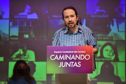 """Iglesias dice que """"bienvenidas"""" sean las discusiones con PSOE si prohíben desahucios y repudia la """"geometría variable"""""""