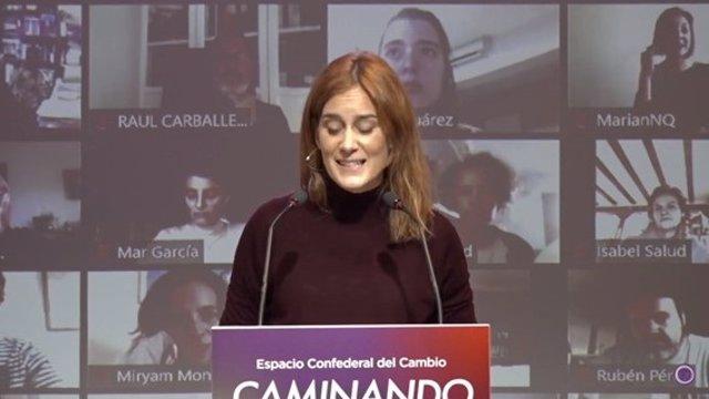 La líder dels comuns en el Parlament i candidata de la formació a la Presidència de la Generalitat, Jéssica Albiach