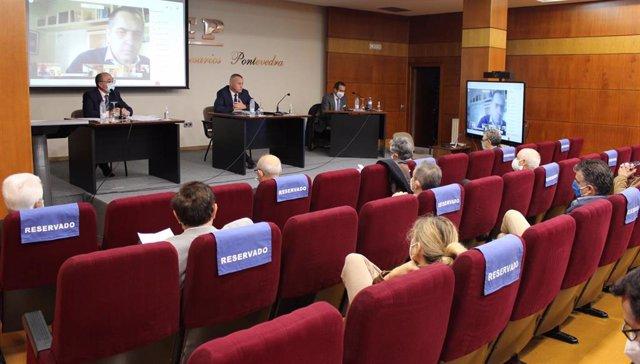 Reunión del Comité Directivo y la Comisión Permanente de la Confederación de Empresarios de Pontevedra (CEP), en la que se ha valorado el resultado de las elecciones de la CEG y la dimisión de Díaz Barreiros, tras ser proclamado presidente.
