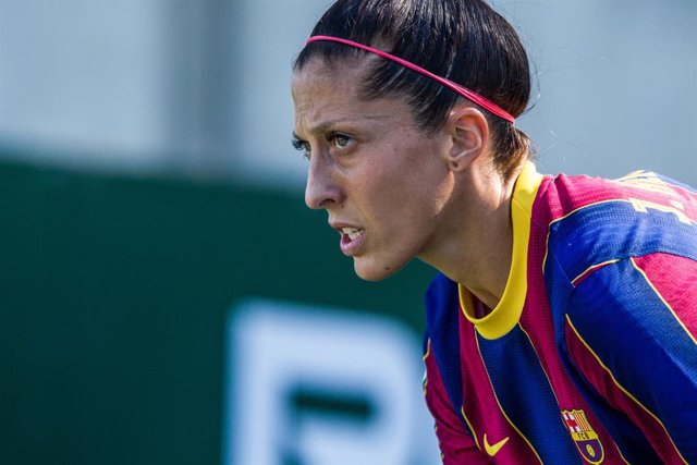 Jenni Hermoso of FC Barcelona during Liga Iberdrola, football match played between Real Betis Balompie and Futbol Club Barcelona at Luis del Sol Sports City on October 31, 2020 in Sevilla, Spain.