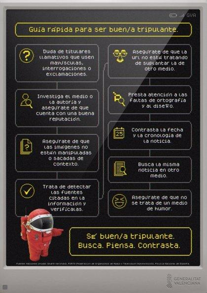 """Una campaña de la Generalitat se inspira en Among Us para desenmascarar a los """"impostores"""" que comparten 'fake news'"""