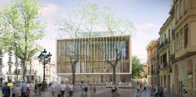 L'Ajuntament de Barcelona ha obert la licitació de la construcció de la nova biblioteca de Sarrià (Barcelona) al passeig de la Bonanova.