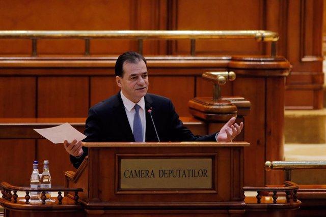 El primer ministro de Rumanía, Ludovic Orban.