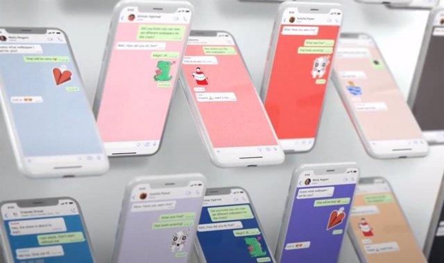 Personalizar los fondos de pantalla en chats