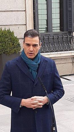 Declaració del president del Govern central, Pedro Sánchez, el Dia de la Constitució