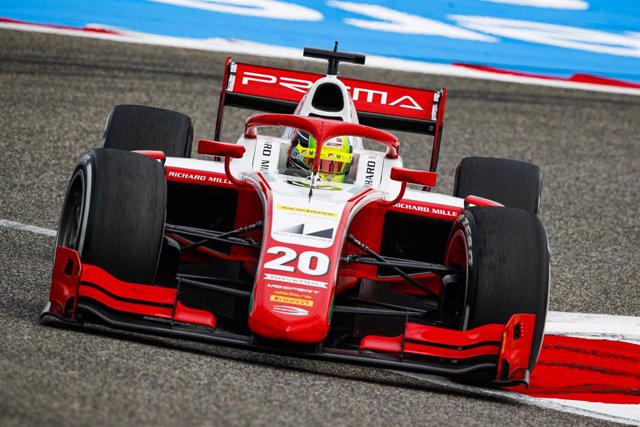 20 Schumacher Mick (ger), Prema Racing, Dallara F2 2018, action during the 11th round of the 2020 FIA Formula 2 Championship from November 27 to 29, 2020 on the Bahrain International Circuit, in Sakhir, Bahrain - Photo Florent Gooden / DPPI