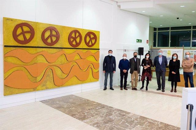 Inauguración en la Cidade da Cultura de un mural de Luis Seoane traído desde Argentina