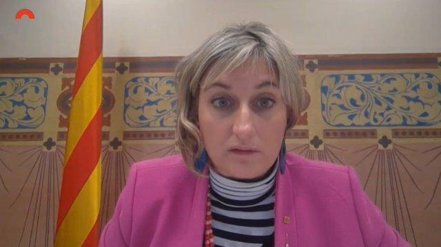 La consellera Alba Vergés, en comissió parlamentària de la gestió de residències.