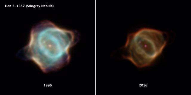 Desvanecimiento rápido en la Nebulosa de la Mantarraya