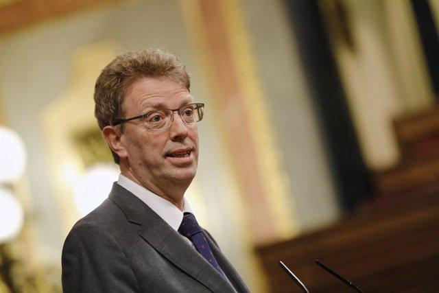 El portaveu econòmic del PDeCat al Congrés, Ferran Bel, intervé durant una sessió plenària al Congrés dels Diputats. Madrid (Espanya), 21 de juliol del 2020.