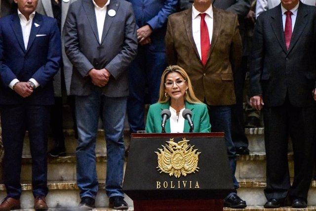 La expresidenta de Bolivia Jeanine Áñez.