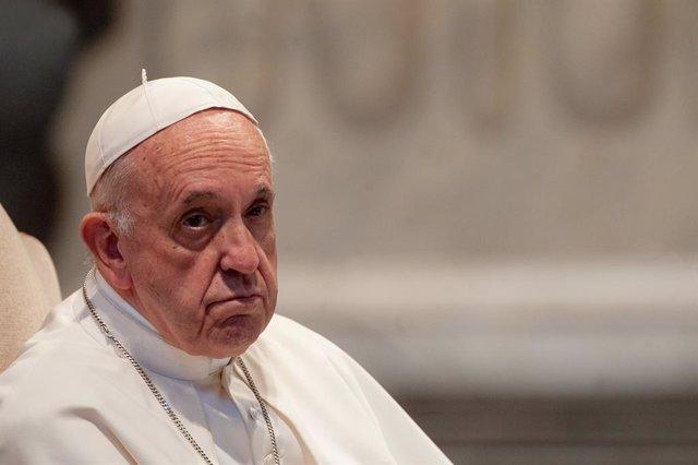 El Papa Francisco hablando durante la reunión, el 9 de mayo de 2019, con la diócesis de Roma en la Basílica de San Juan de Letrán en Roma
