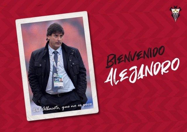 El nuevo técnico del Albacete Balompié para el resto de la temporada 2020/21, Alejandro Menéndez