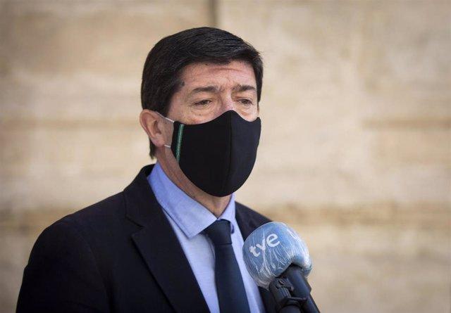Juan Marín en el Parlamento de Andalucía