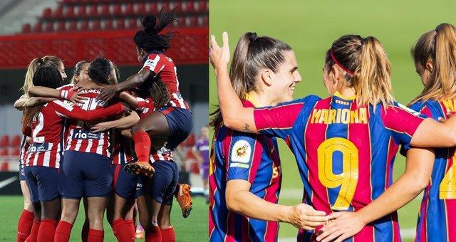 Atlético de Madrid Femenino y Barça Femení se medirán a Servette y PSV Eindhoven, respectivamente, en los dieciseisavos de final de la UEFA Women's Champions League de la temporada 2020/21