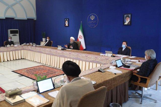 El presidente de Irán, Hasán Rohani, en una reunión del Gobierno en Teherán