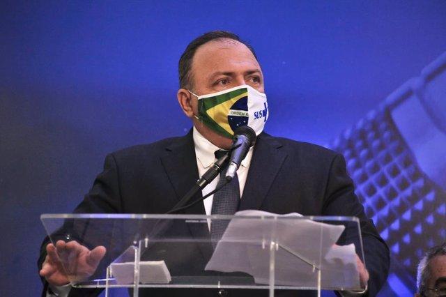 El ministro de Salud de Brasil, el general Eduardo Pazuello.