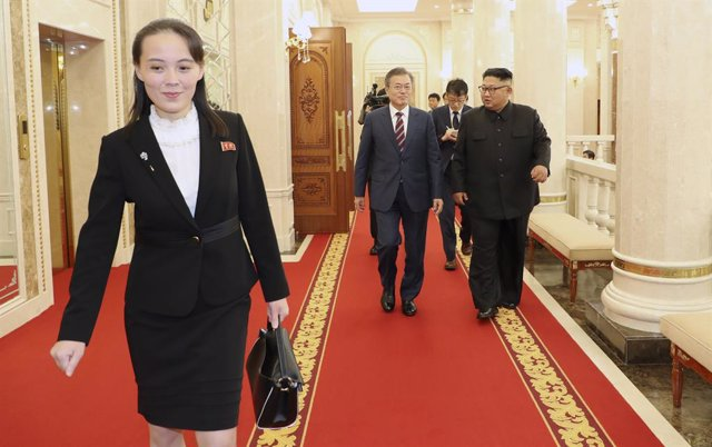 Kim Yo Jong, la actual subdirectora primera del comité Central del Partido de los Trabajadores de Corea, y hermana del líder del país, Kim Jong Un.