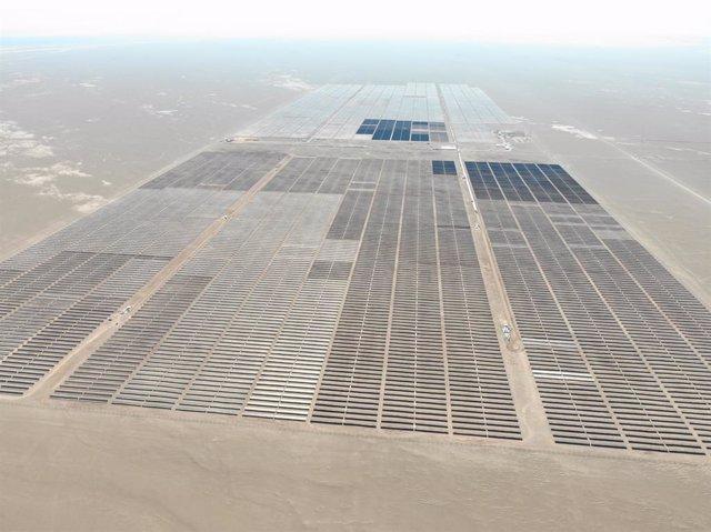 """Imagen de la planta solar """"Granja""""  puesta en marcha por Solarpack en Chile."""