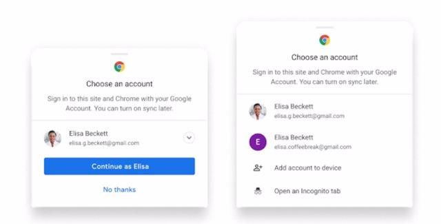 Inicio de sesión en Chrome para Android