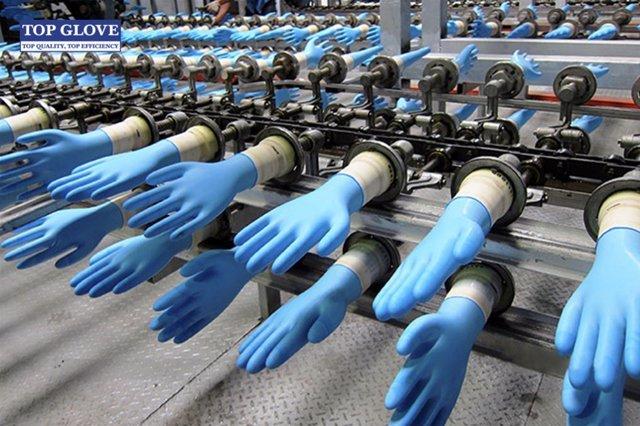 Línea de producción de guantes desechables de Top Glove